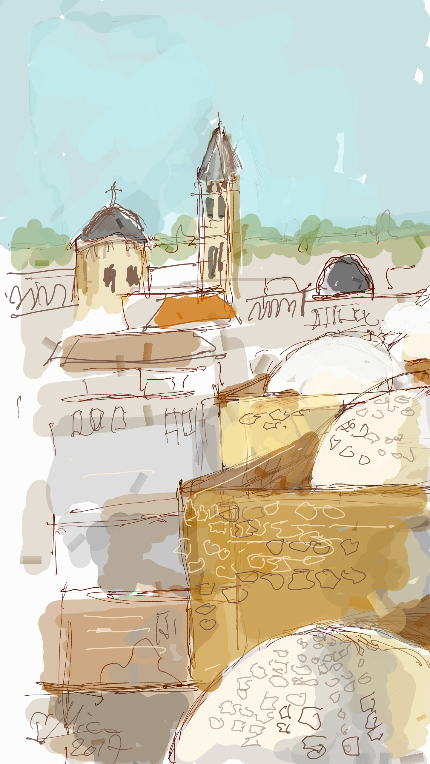 A Digital Free Hand painting tour in Jerusalem old city